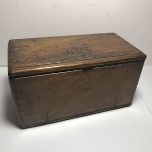 Singer Sewing Machine Wood Folding 20 Accessories Case Puzzle Box 1889