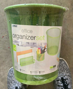 Pro mart Dazz Office Organizer Set 4 Piece Lime Green In Package