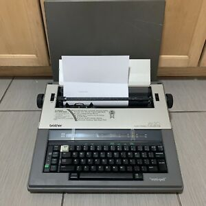 Brother Ax 20 Electric Typewriter Word Out Spell Checker With Cover Japan Works