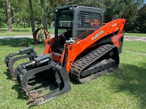 Kubota Svl95 2 Skid Steer Loader Cab ac High Flow
