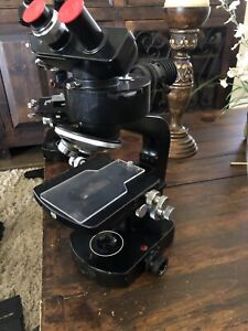 Wild Heerbrugg M20 49750 Microscope With 1 4x Vertical Illuminator And Head