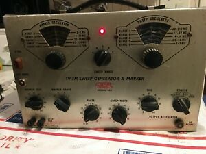 Vintage Eico 368 Sweep Generator Tv fm Sweep Generator Marker W probe