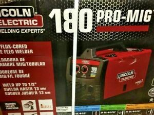 Lincoln Electric K2481 1 180 Pro mig Flux cored Wire Feed Welder 230v 180 Amp