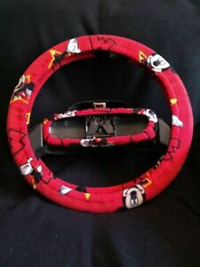 Mickey Mouse Red Fleece Steering Wheel Cover Set