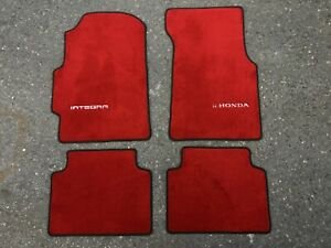 For Honda Integra Dc2 Floor Mats Carpet Set Red Black Edge 4pcs 1995 2001 Acura