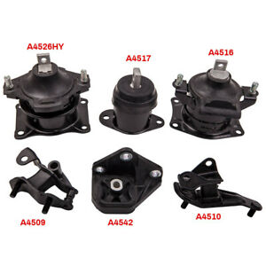 Engine Motor Transmission Mounts For Honda Accord 2 4l 03 07 Automatic Trans