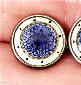 Sweet Well Made Basse Taille Enamel Antique Waistcoat Button 3 8