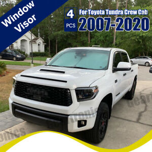 Fit For Toyota Tundra Crewmax 2007 2019 Door Vent Visors Rain Guards Deflectors