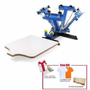 4 Color 1 Station Screen Printing Machine Diy T shirt Press Printer Euipment
