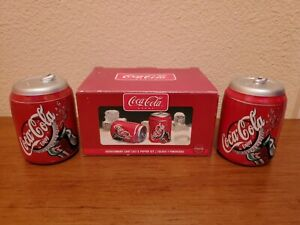 Glass Coca Cola Salt And Pepper Shakers - See Listing Pictures