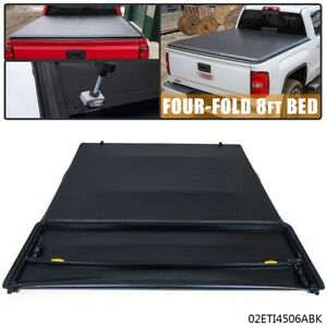For 2007 2013 Chevy Silverado Gmc 8ft Bed Vinyl Assembly Four fold Tonneau Cover