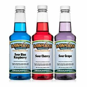 Hawaiian Shaved Ice Sour Syrup 3 Pack Pints