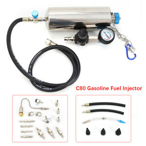 C80 Gasoline Fuel Injector Cleaner Washing Tool Non dismantle 120psi Kit