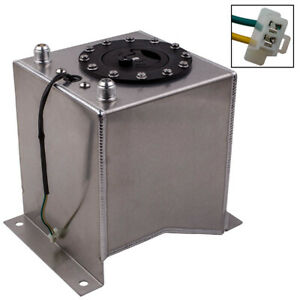 Universal Lightweight Aluminum 2 5 Gallon Fuel Cell Tank With Sending Unit
