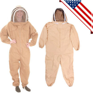 2020 Cotton Full Body Beekeeping Bee Keeping Suit With Veil Hood Xxl Usa