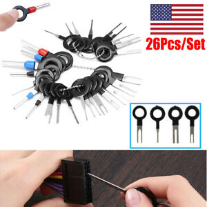 26 Pcs Wire Terminal Removal Tool Car Electrical Wiring Crimp Connector Pin Kits