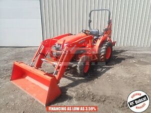 2016 Kubota L2501 Tractor Loader Backhoe 2 Post Rops 4x4 197 Hours 25 Hp Kubota