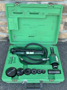 Greenlee 7306sb Hydraulic Knockout Knock Out Punch Driver Set 1 2 2 nice Set