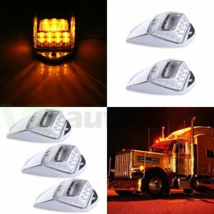 5x Cab Marker Amber 31 Led Roof Light Car Running Clearance For Peterbilt Mack