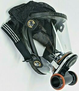 Scott O Vista Full Face Respirator Mask With Dual Filter Adapter Size Small