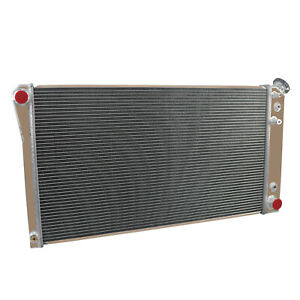 2 Row Radiator For 1991 1993 1992 Chevy Caprice olds Custom Cruiser 5 0l Cap