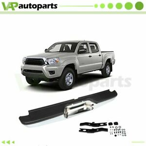 New Chrome Complete Rear Steel Bumper Assembly For 2000 2004 Toyota Tacoma