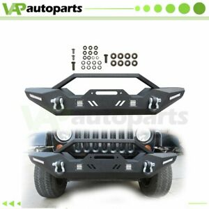 Front Bumper For Jeep Wrangler Jk 2007 2018 Protector Guard Steel New