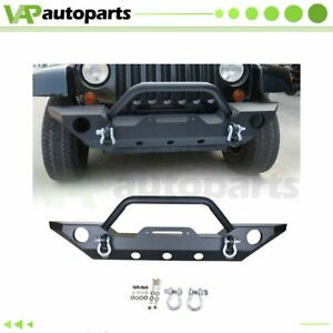 For Jeep Wrangler Jk 2007 2018 Front Bumper Protector Guard winch