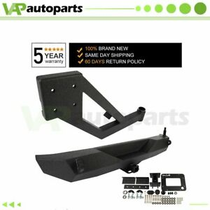 Trimming Rear Bumper With Tire Carrier D ring For Jeep Wrangler 07 18 Jk Steel