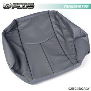 For 2003 2007 Chevy Silverado Driver Side Bottom Leather Seat Cover Pewter Gray