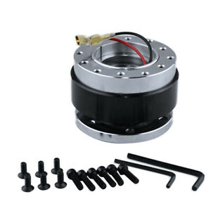 Universal Short Quick Release Kit Fit 6 Hole Steering Whee Hub Boss Adapter New