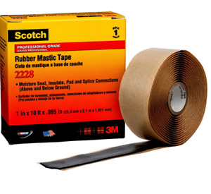 Scotch Rubber Mastic Tape 2228 1 In X 10ft Black New Free Shipping 1379943