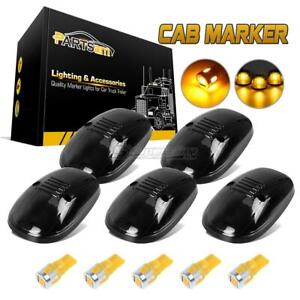 5xsmoke Cab Marker Light Lens 168 6 5730 Amber Led For Dodge Ram 2500 3500 99 02
