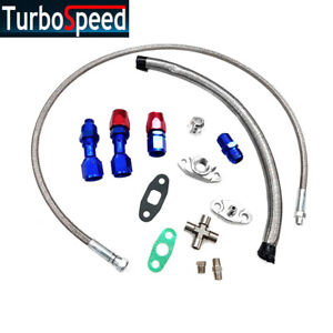 New Turbo Charger Oil Drain Return Feed Line T3 T4 T04e T60 T61 T70 Complete