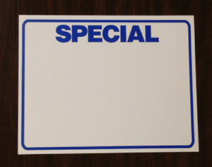 100 Lot Special Price Signs Display Case Shelf Signs Tags retail Store 8 5x11
