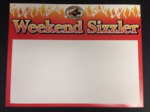 100 Lot Weekend Sizzler Price Signs Display Case Shelf Signs Tags 8 5x11