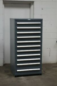 Used Nu era 11 Drawer Cabinet Industrial Tool Parts Storage 2199 Vidmar
