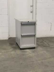 Used Lista 2 Drawer 16 Wide 30 Tall File Cabinet Tool Storage 2205 Vidmar