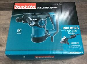 Makita 1 1 8 Rotary Hammer Drill And Bonus 4 1 2 Angle Grinder Hr2811fx New