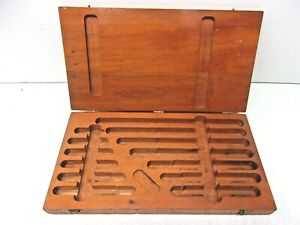 Box Only For Brown Sharpe 2 12 Inside Mircometer Set Me2952 Free Ship