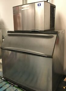 Manitowoc Ice Machine Model Sd0692n With Bin
