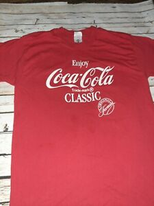 Coca Cola T Shirt Vintage 80s Soda Coke Single Stitch Cotton Made In USA Large
