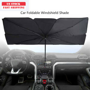 Large Car Truck Foldable Windshield Sun Shade Umbrella Block Heat Uv Universal