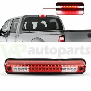For 1988 98 Chevy Silverado Gmc Sierra Red Led 3rd Brake Light Cargo Lamp Chrome