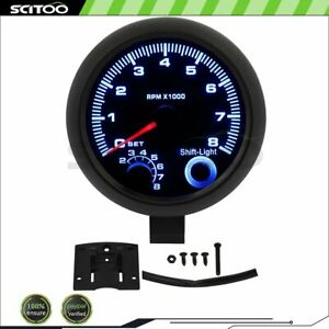 Tachometer Tacho Gauge Meter For 4 6 8 cylinder 12 Volts Petrol Car 0 8000 Rpm