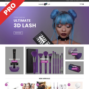 Makeup Dropshipping Store Professional Website Turnkey Business For Sale