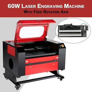 60w Co2 28 X 20 Laser Engraver Cutter Machine With Cylinder Rotary Attachment