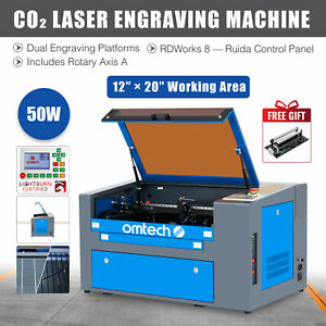 2020 Upgraded 50w 20 X 12 Co2 Laser Engraver Cutter With Rotary Axis Ruida