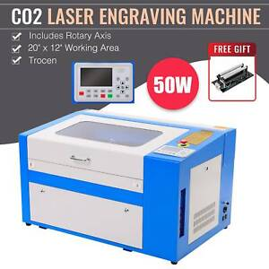 Co2 Laser Engraving Machine 20 X 12 W Rotary Axis Trocen Engraver Cutter 50w