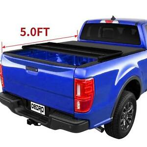 Oedro Soft Tri fold Tonneau Cover Fit For 2019 2020 Ford Ranger Truck Bed 5ft